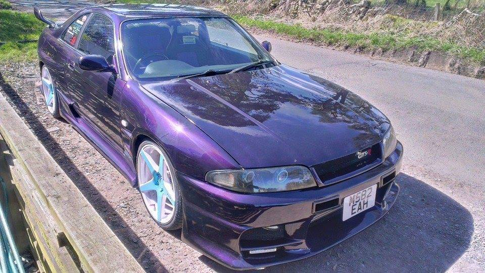 Violet Purple Nissan Skyine painted with Violet Ghost Pearls.