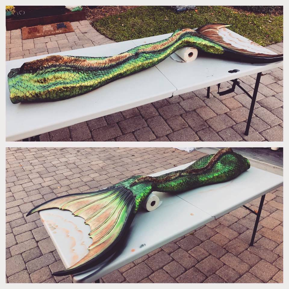 Silicone mermaid tail by Flip Tails.