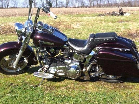 Great stuff!! 1988 softail, 3 coats black base, 3 coats of your ghost red pearl, and 4 coats clear.