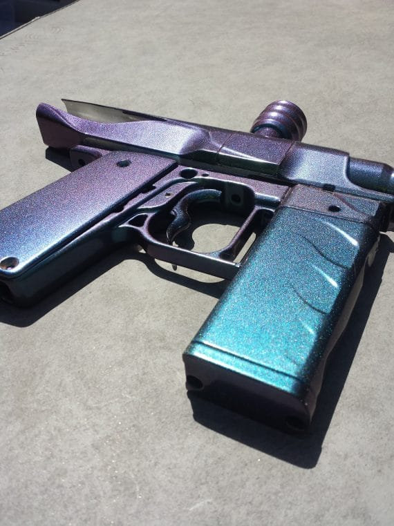red blue green paintball gun