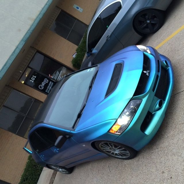 Garrett Parker from Eclipse Auto Body makes a Mitsubishi Blue Green Chameleon with our 4779BG.