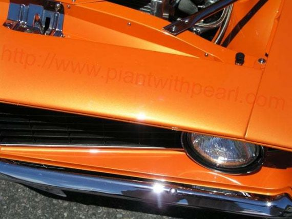 Bright Orange Candy Pearls