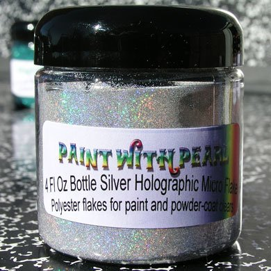 4 oz Jar Silver Holographic Metal Flake