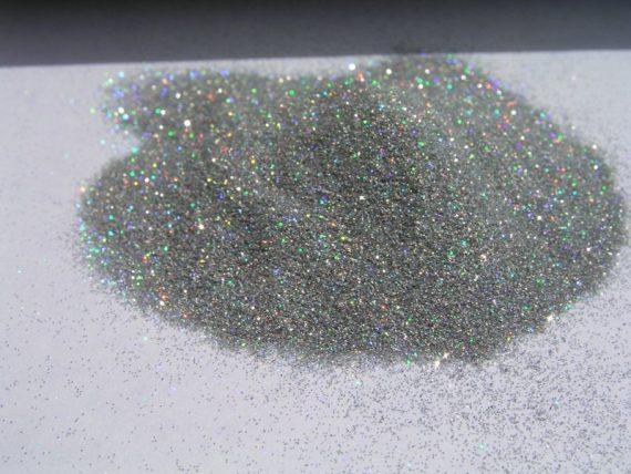 Pile of Silver Holographic Flake