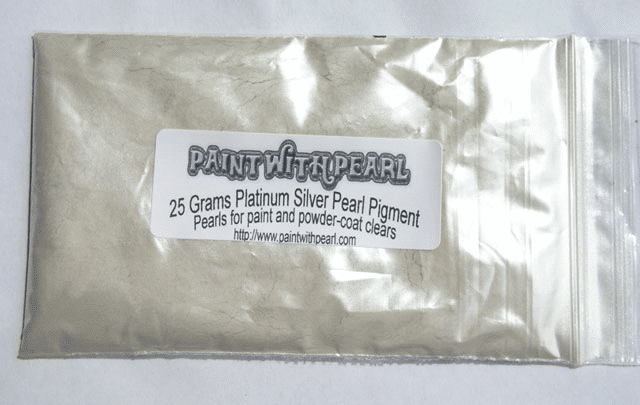 25 gram bag of Platinum Silver Ghost Pearl