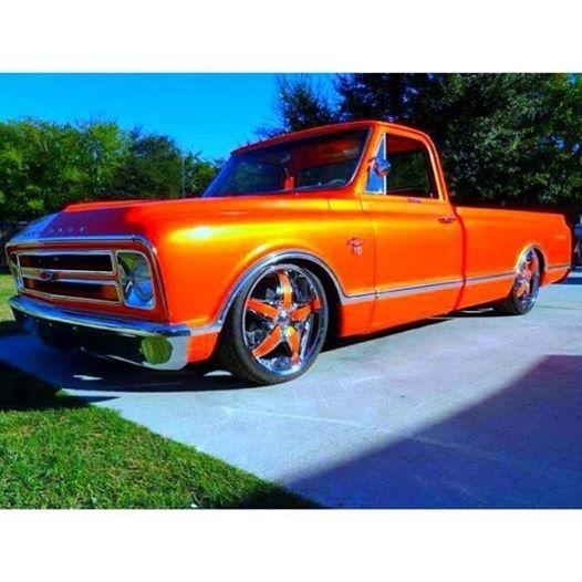 Blue Ghost Pearl On This Orange Chevy Truck
