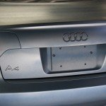 Pewter Titanium Candy Pearls being plasti dipped on an Audi