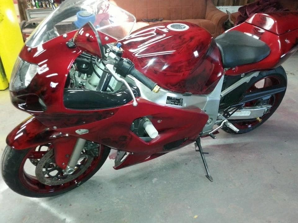 Candy Red Gsxr Painted Using Several Pwp Products