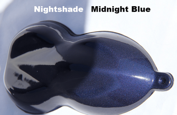 Midnight Blue Candy Paint on a speed-shape.