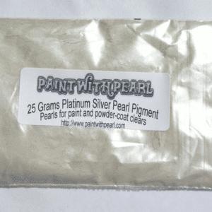 25 gram bag of Platinum Silver Ghost Pearl