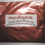 Shimmer Wine Red Candy Pearl in 25 Gram Bag.