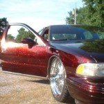 Fire Red Flake Caprice Classic using our metal flakes.