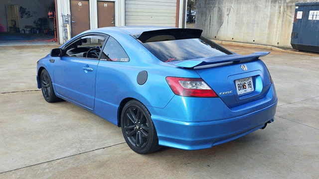 Electric Blue Civic By Dipp Your Whipp