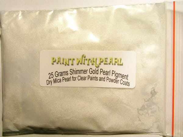 Shimmer Ghost Pearl Paint powder in 25 Gram Bag.