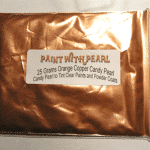 25 Gram Bag Orange Copper Candy Pearls