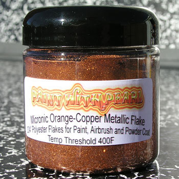 Jar of Orange-Copper metal flake.