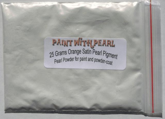 Orange Satin Ghost Pearl