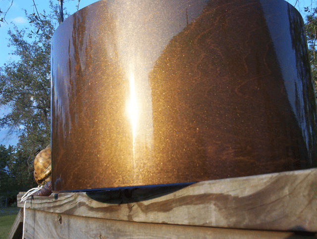 Gold Candy Pearl on new Drum allows wood grain to be seen right through!