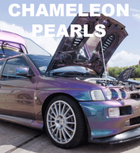Chameleon Paint Pearls in every multi-color option here. Works in paint, powder coat, even nail polish and shoe polish.