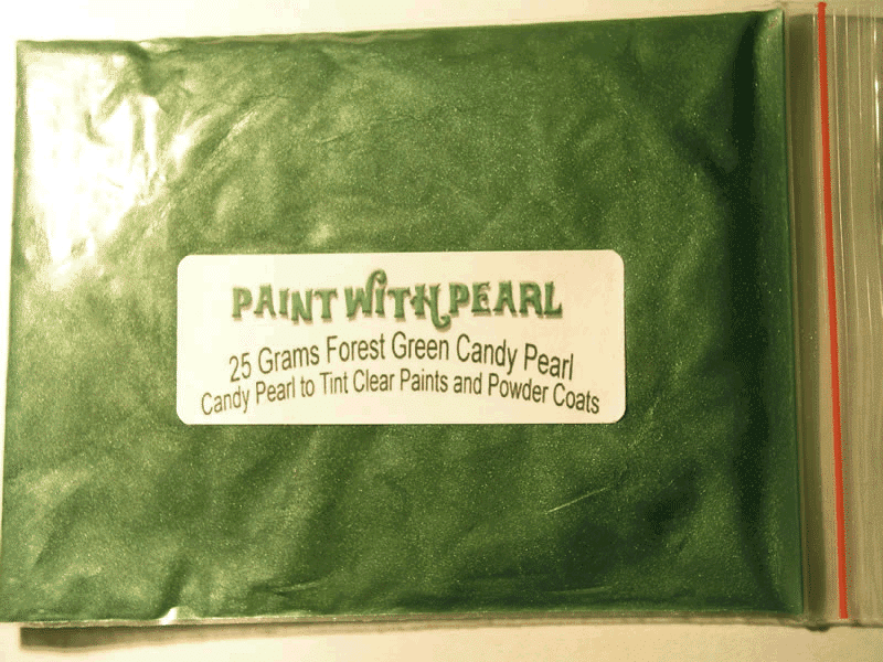 25 Gram Bag of Forest Green Candy Pearls ®.