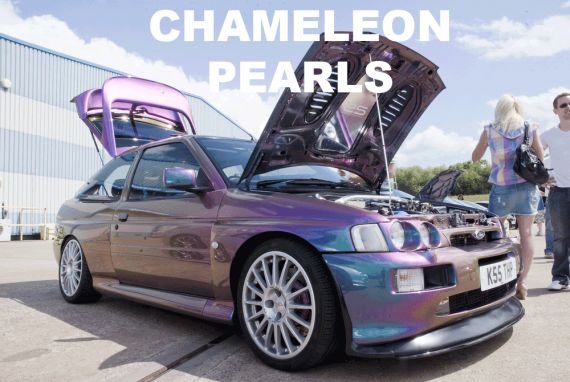 Chameleon Paint Pearls in every multi-color option here. Works in paint, powder coat, even nail polish and shoe polish. Try our Chameleon Colors!