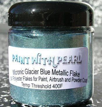 Jar of Glacier Blue Metallic Flake