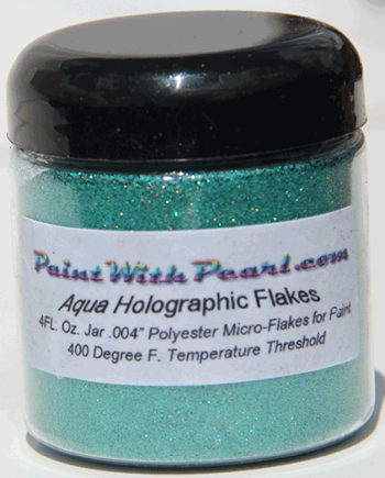 4 oz Jar Aqua Blue Holographic Metal Flake