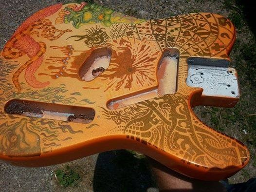 Custom Paint Jobs On Guitars And Gsxr Paint With Pearl
