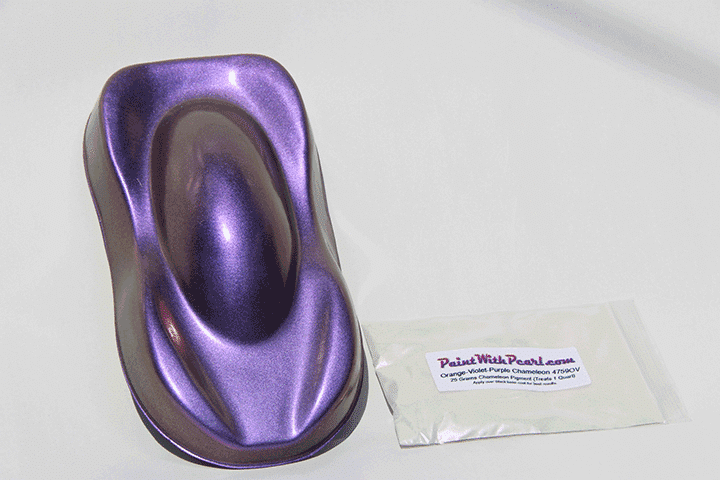 Purple Red to gold chameleon pearl.
