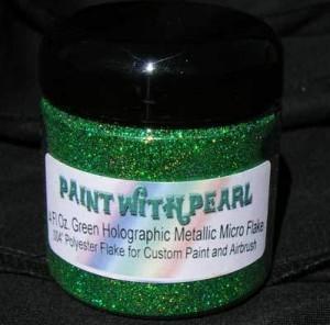 4 oz Jar Green Holographic Metal Flake
