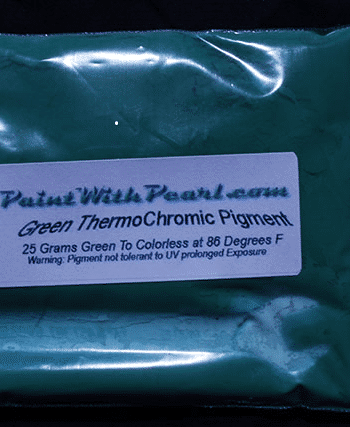 25 gram bag of green-thermochromic-paint-pigment