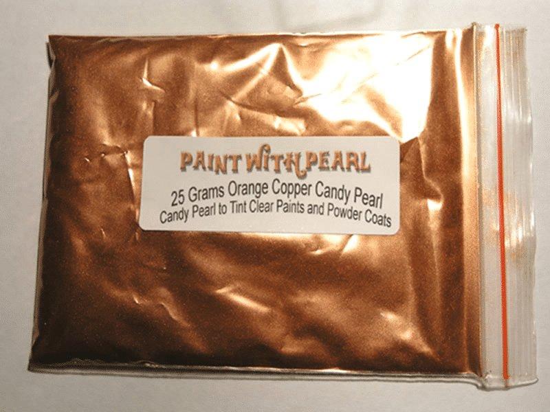 25 Gram Bag Orange Copper Candy Pearls