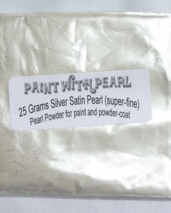 25 gram bag of Silver Satin Ghost Pearl