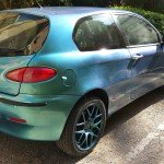 4779 Blue Green Purple super flash chameleon pearl on an Alfa Romeo