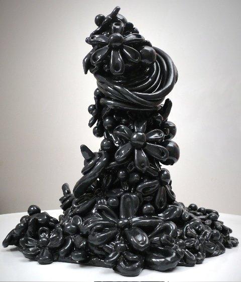 Black Gunmetal Candy Pearl sculpture
