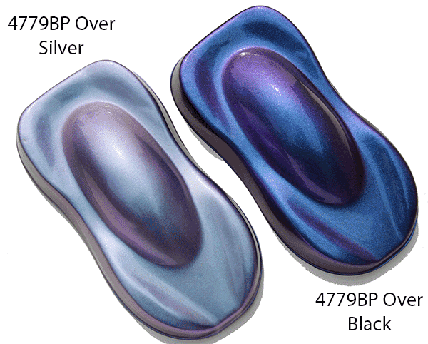 4779bp Blue To Purple Chameleon Paint Colorshift See Our Over Black And Silver Base Coats It Is A White