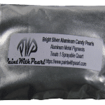Bright Silver Aluminum Candy, or silver metal pigment in the bag.
