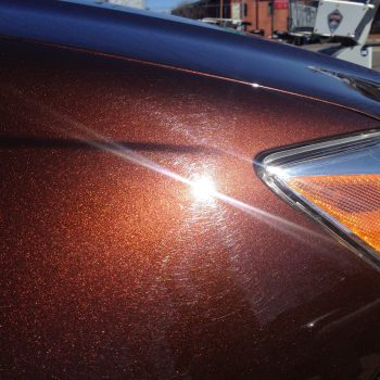 Cinnamon Brown Candy Paint Pearl has a touch of orange or red in it, as opposed to the standard nut brown.