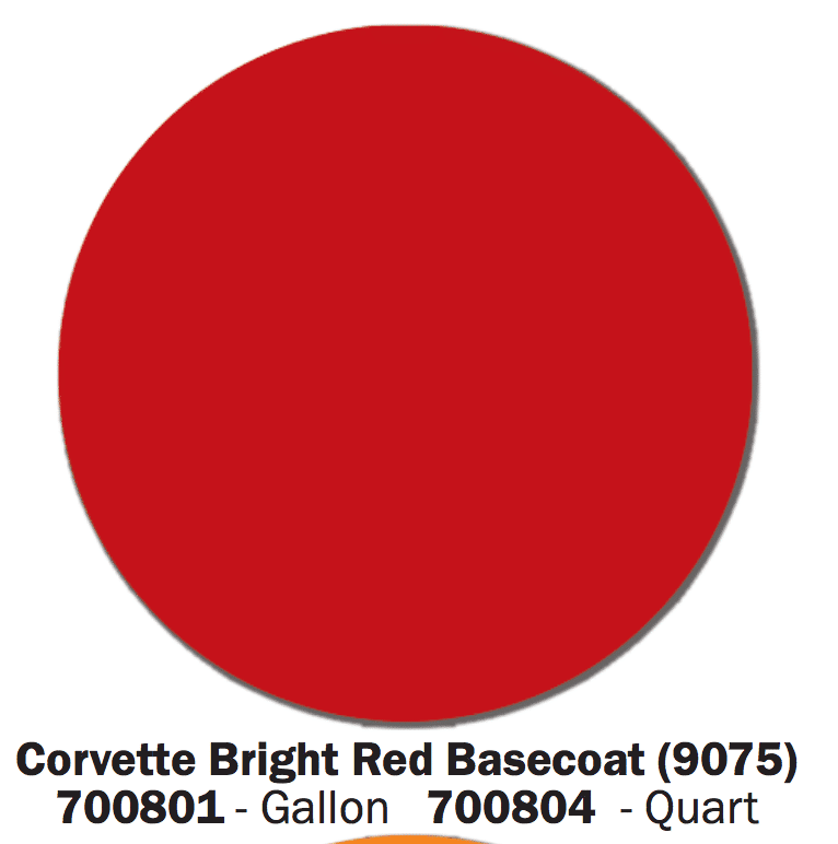 Corvette Red Base Coat Swatch
