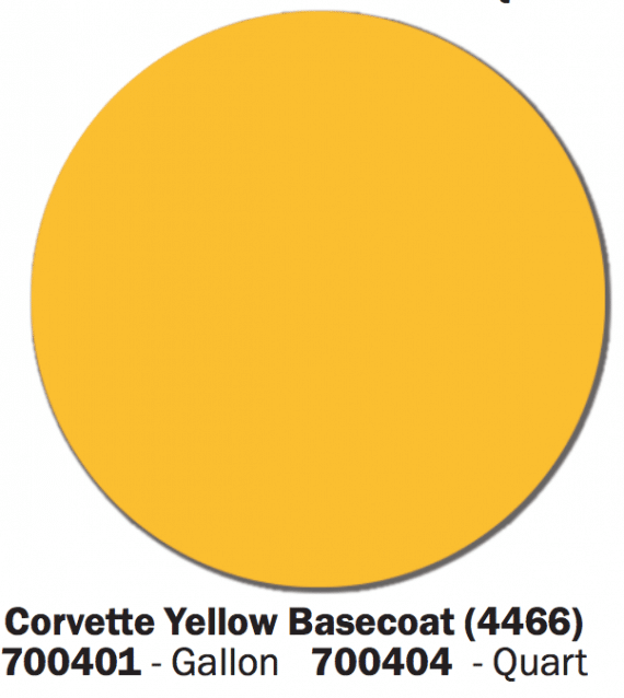 Corvette Yellow Basecoat