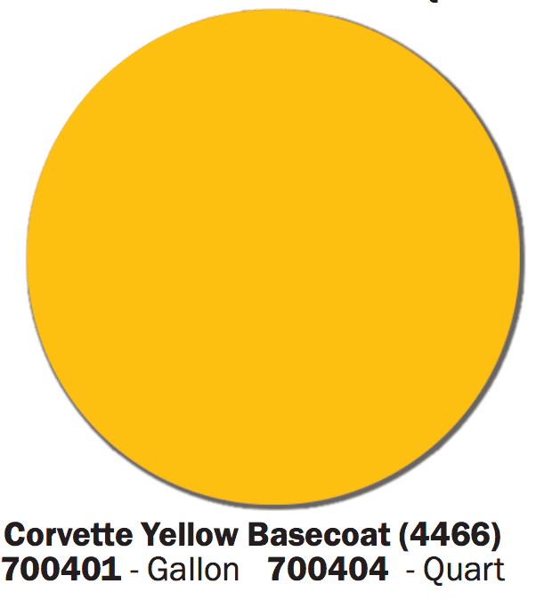 Corvette Yellow Basecoat