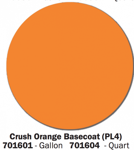 Crush Orange Base Coat color swatch.