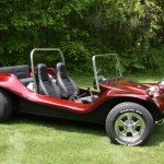 fire red flake on a dune buggy