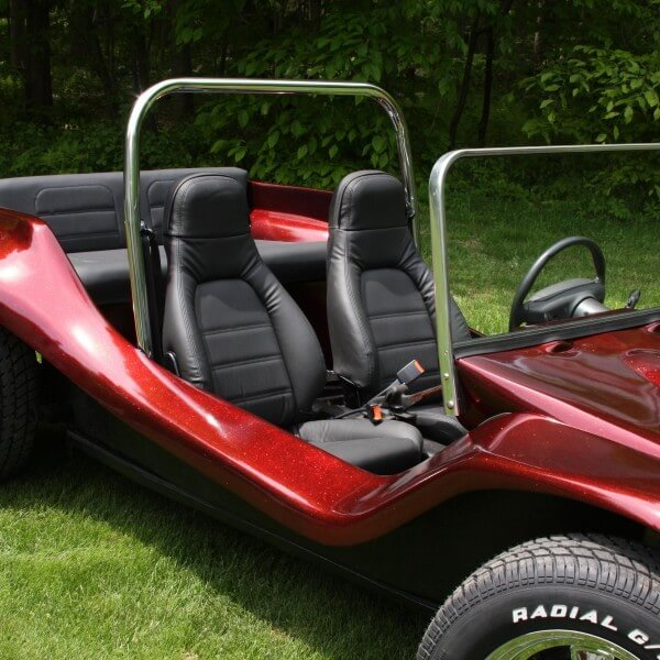 Fire red flake dune buggy