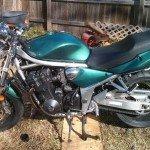 Blue Green Flip Carribean Gold motorcycle