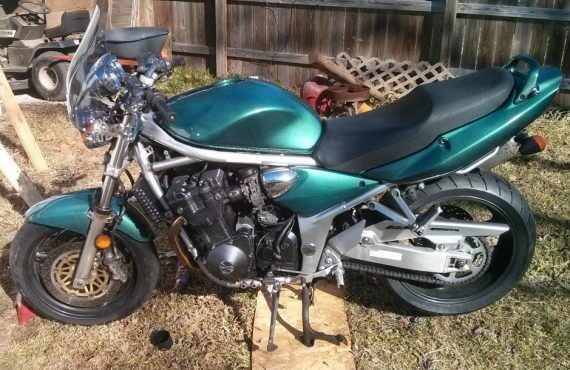 Blue Green Flip Carribean Gold motorcycle