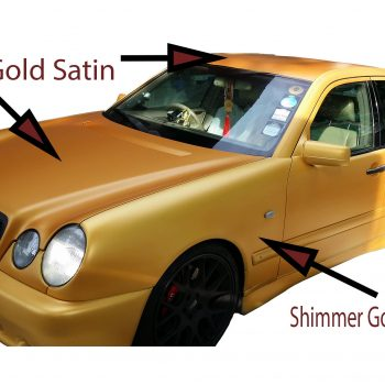 Shimmer Gold Candy Pearls with Royal Gold Candy in matte finish on Mercedes.