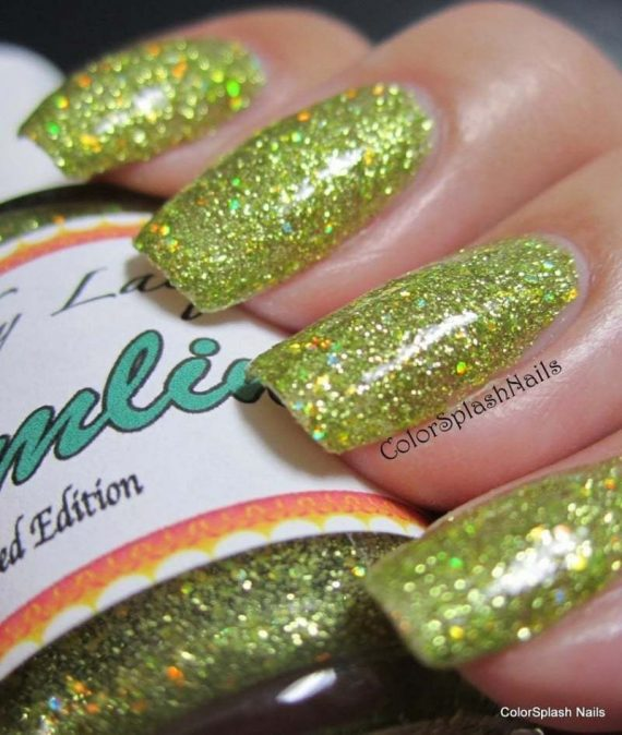 Custom made finger nail polish using our pigments and metal flakes
