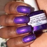 purple candy nail polish purple holo flake