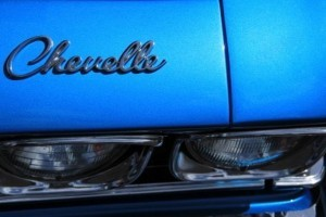 Electric Blue Metallic Paint on a Chevelle.